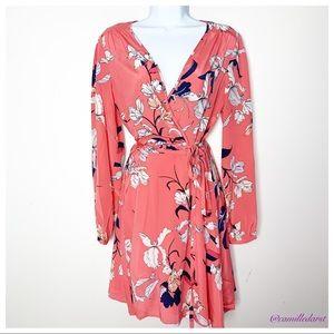 NWT YUMI KIM | Coral Floral Duchess Wrapped Dress